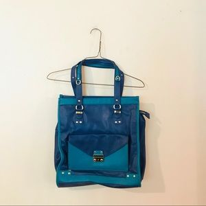 Olivia and Joy Blue and Teal Purse
